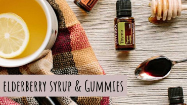 Elderberry syrup and gummie recipe infused with doterra essential oils