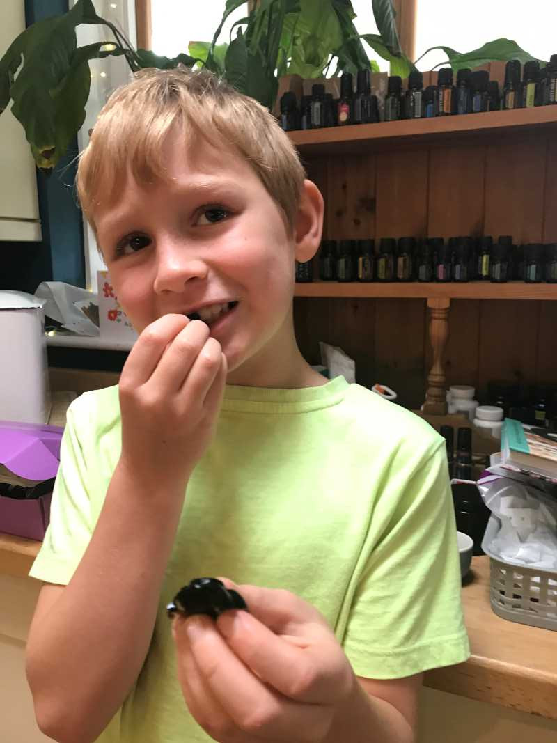 elderberry gummies infused with doterra essential oils eating kids love them